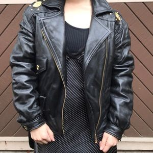 Knock off Versace Fake leather coat